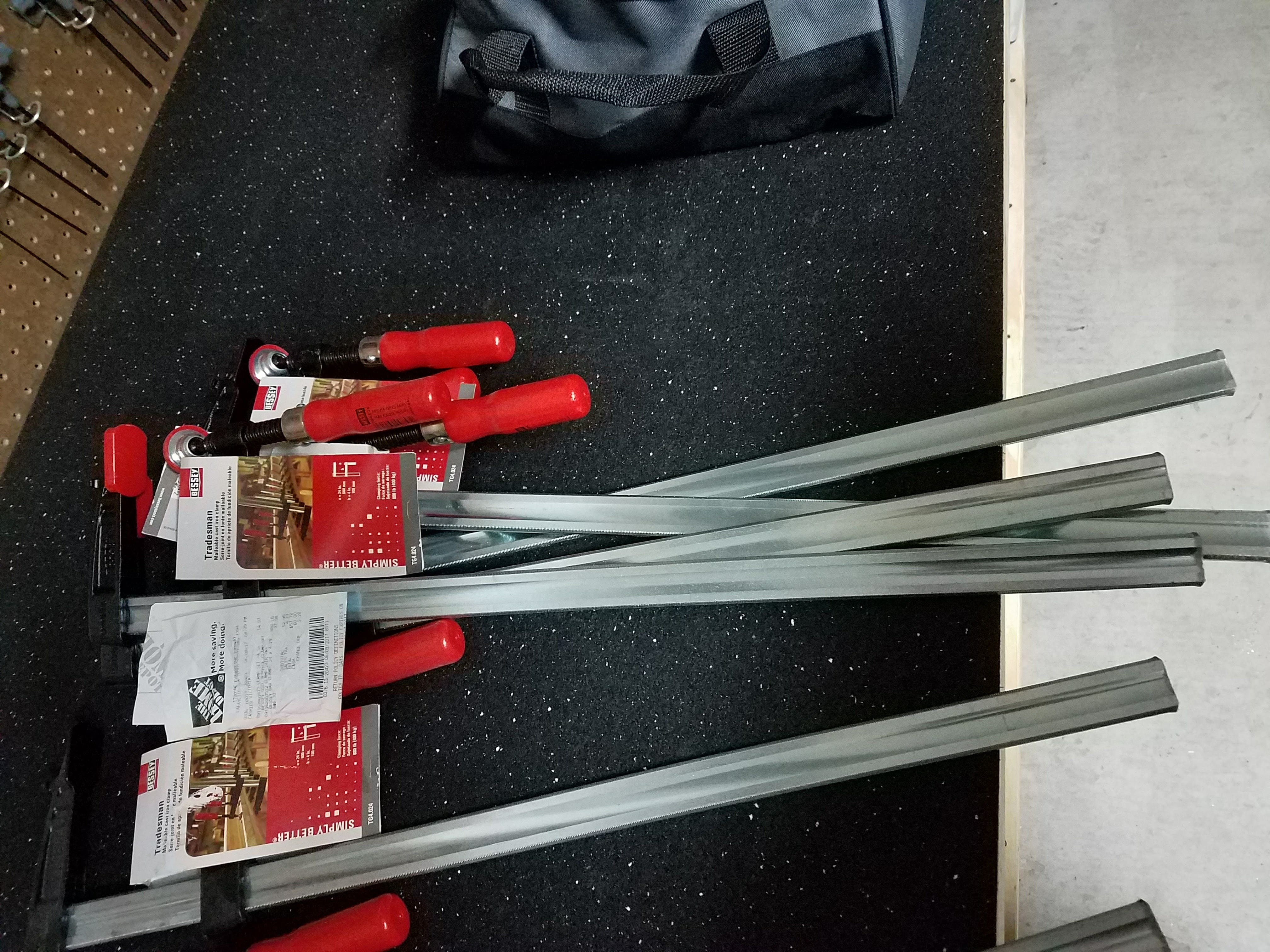 """Bessy  TG Series 24"""" Bar Clamps $6.33 normally $24.97 YMMV"""