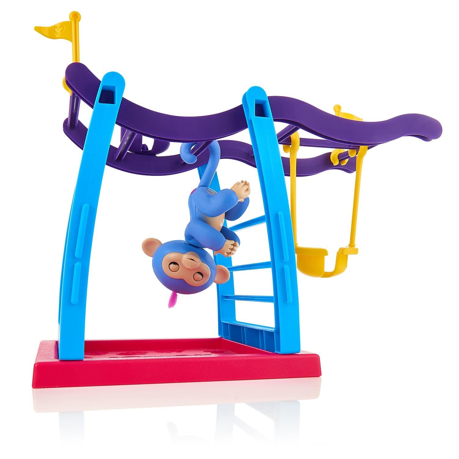 Fingerlings Playset - Monkey Bar Playground + Liv the Baby Monkey (Blue with Pink Hair) $24.99
