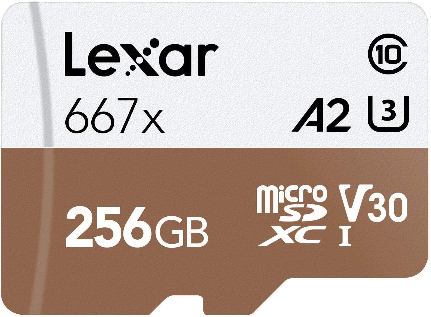 Amazon: Lexar Professional 256GB Micro SD A2 V30 UHS-I/U3 Card  - Prime Members $33.99
