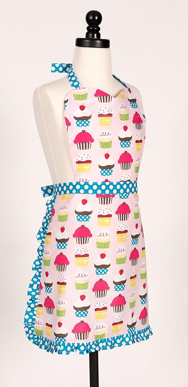 KAF Home Adult's Hostess Apron, Cupcake, Adjustable Fit, Machine Washable $19.99