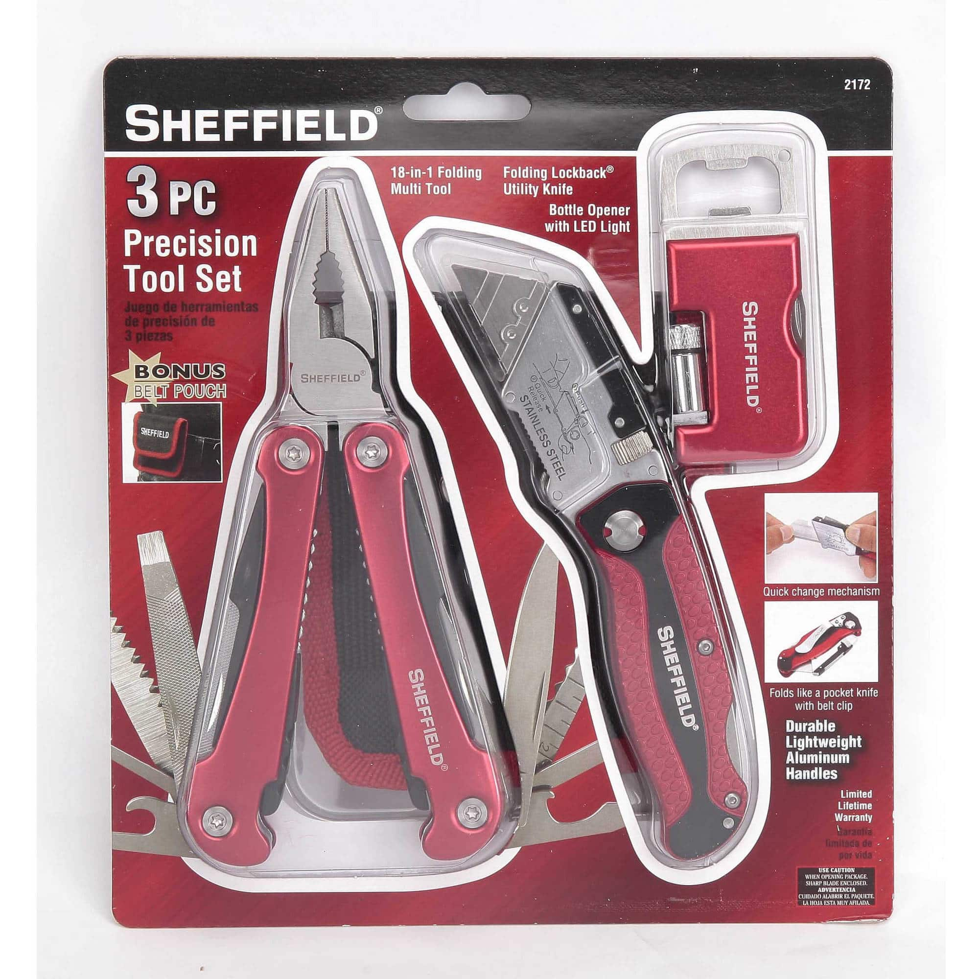 Sheffield 3-Piece Precision Tool Set $10.20 + Free Store Pickup