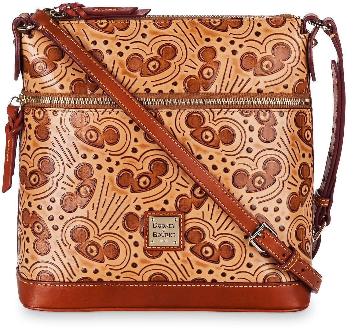 Mouseketeer Ear Hat Natural Leather Letter Carrier Bag By Dooney & Bourke $198.40 + fs