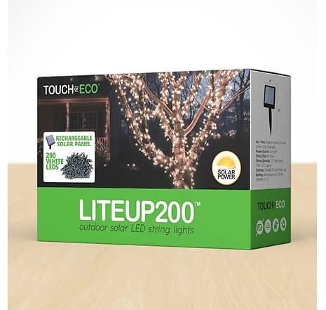 Touch of ECO Solar LED String Lights (200 Lights, 68') $19.99