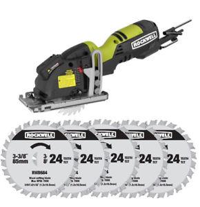 RK3501 Rockwell 4.0 Amp Plunge Saw + (5) Wood Cutting Blades $69.99 + fs