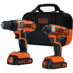 Black & Decker BDCD220IA 20-Volt Lithium-Ion Drill and Impact Driver Kit  $79.99