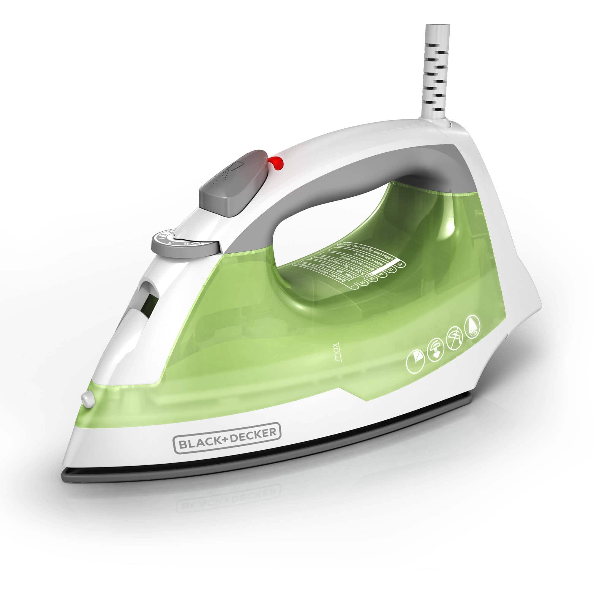 BLACK+DECKER Easy Steam Compact Clothing Iron, Green Steam Iron IR02V for $5