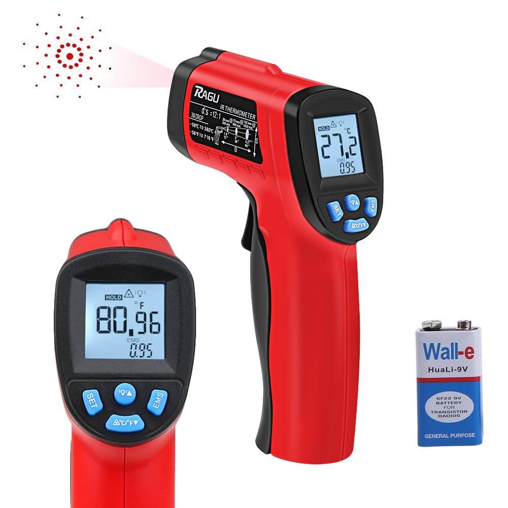 Infrared Thermometer Instant Read Temperature Gun, -50°C ~ 380°C ( -58°F~716°F) for Only $6.5 @ Amazon