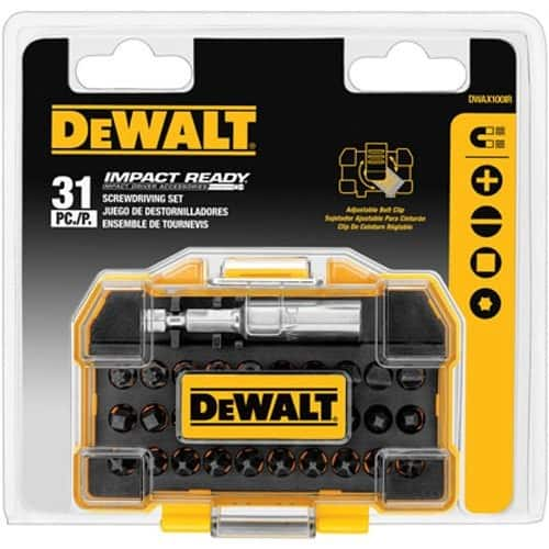 DEWALT DWAX100IR IMPACT READY Screwdriving Tough Case Set, Extra Small, 31-Piece $7.99 & FREE Shipping on orders over $25. $7.97