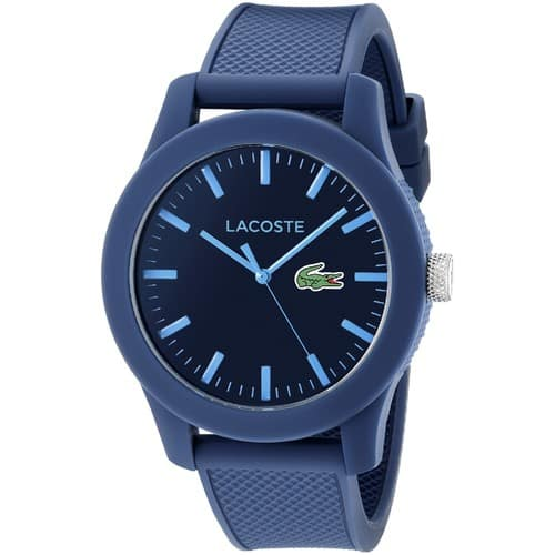 Lacoste Men's 2010765 Lacoste.12.12 Blue Resin Watch with Textured Silicone Band $59.99 & FREE Shipping