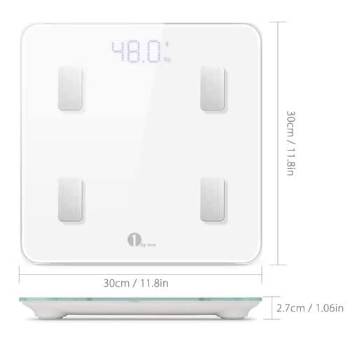 1byone Bluetooth Body Fat Scale with IOS and Android App $22.99  FREE Shipping on orders over $25