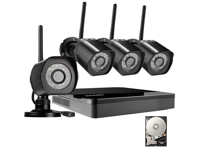 Zmodo HD Wireless Surveillance System 4 Channel NVR with 1TB HDD 4 HD 720p Outdoor Home Security Cameras for $169.99 + $15 NE Gift Card @ Newegg