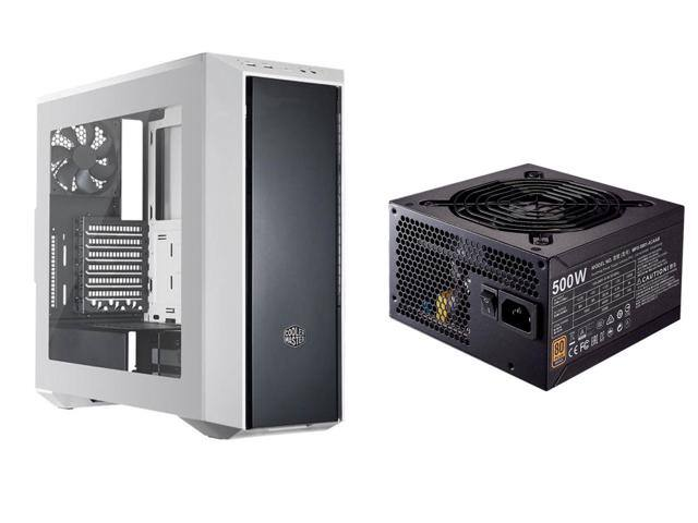 Cooler Master MasterBox 5 Black & White Mid Tower Case + 500W Cooler Master MWE Bronze 500 80 Plus Bronze Certified Power Supply for $49.98 AR + Free Ship @ Newegg