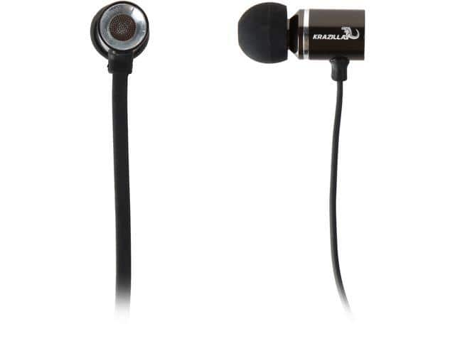 Refurbished Krazilla Black Kzh Metal In-Ear Headphones for Free After Rebate + Free Ship @ Newegg