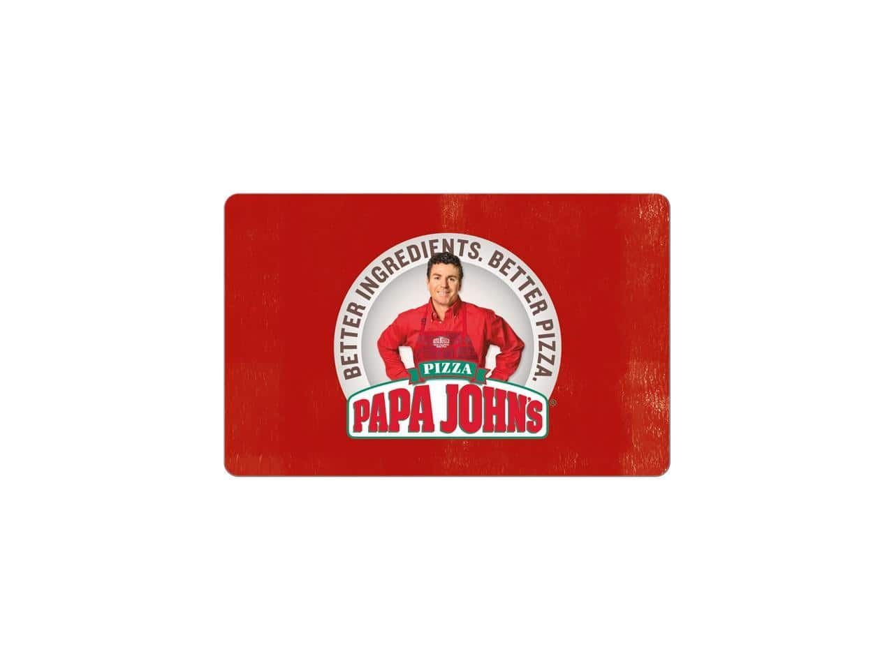 $25.00 Papa John's Gift Card (Email Delivery) for $20.00 AC @ Newegg