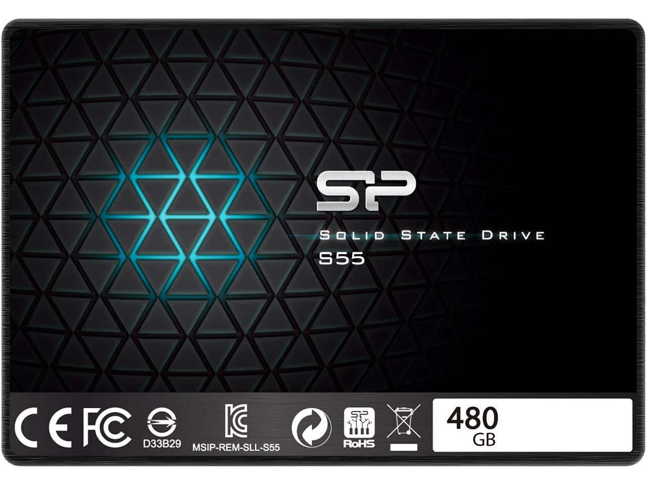 "480 GB Silicon Power Slim S55 2.5"" SATA III 3D TLC Internal Solid State Drive for $89.99 AC + Free Ship @ Newegg"