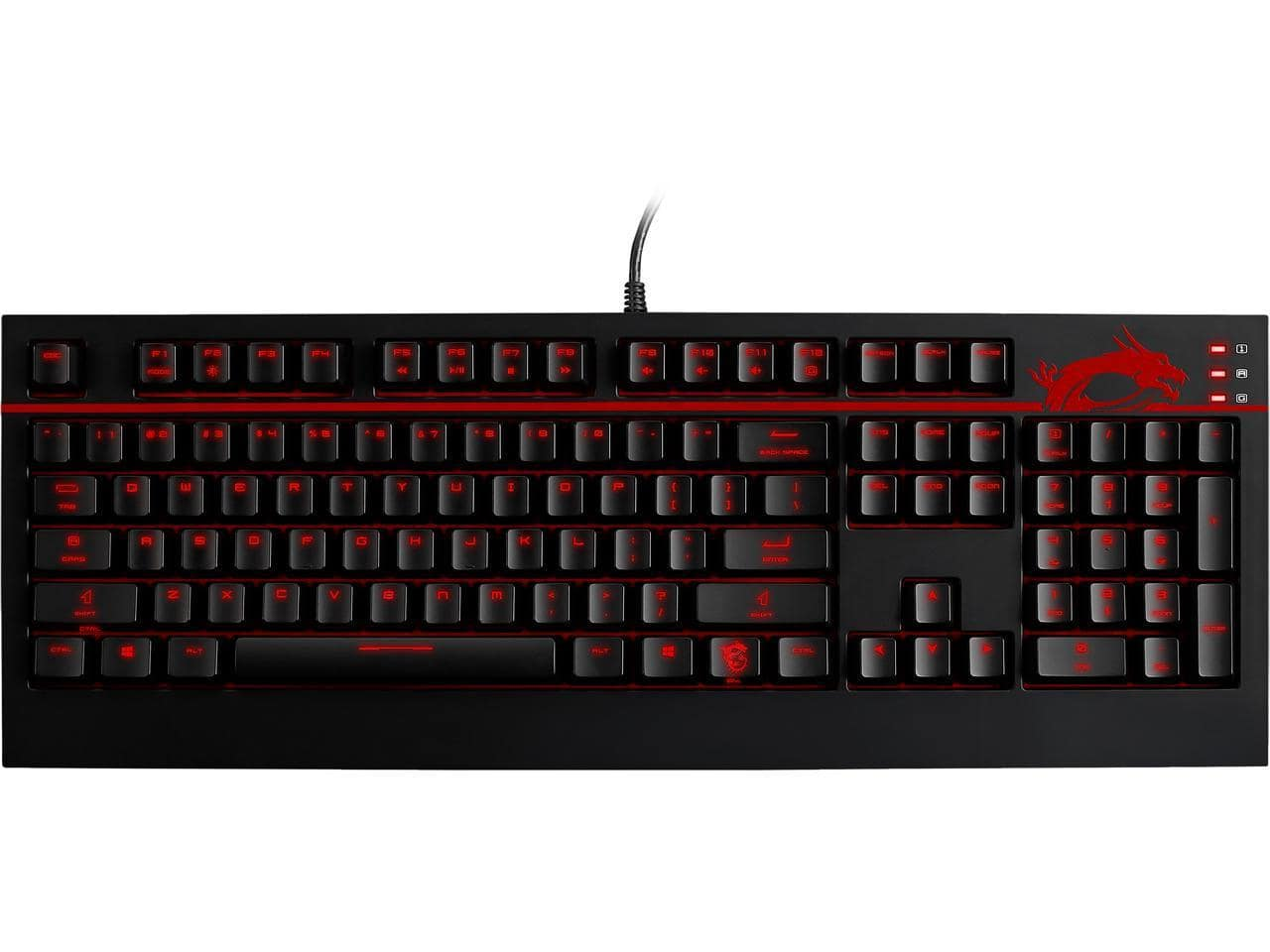 MSI GK-701 Red LED Mechanical Gaming Keyboard with Cherry MX Brown Switches for $42.99 AR & More + Free Ship @ Newegg