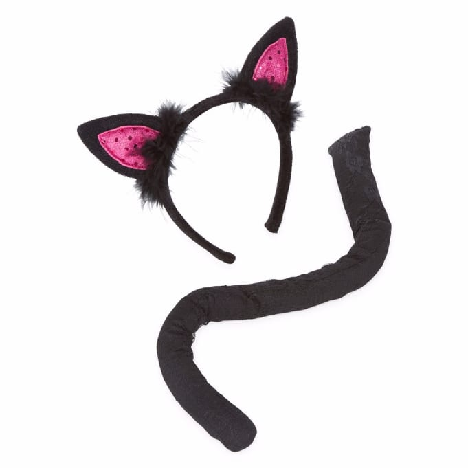 Spooky Streets Cat Ears And Tail Set Dress Up Costume Womens for $1.19 @ JCPenney