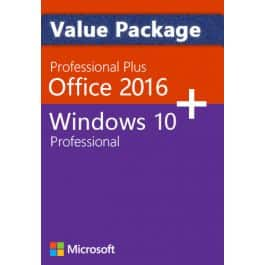 Windows 10 Pro + Office 2016 Pro -Bundle  for  $28.78 [org $35.64 ]