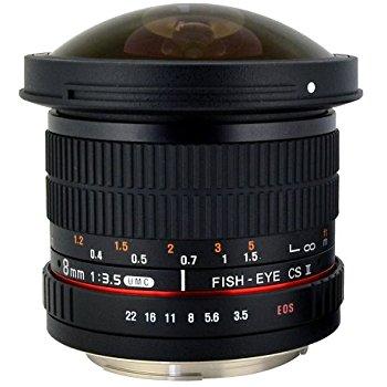 Rokinon HD8M-FX HD 8mm F3.5 Fisheye Lens for Fujifilm X-Mount $149.03