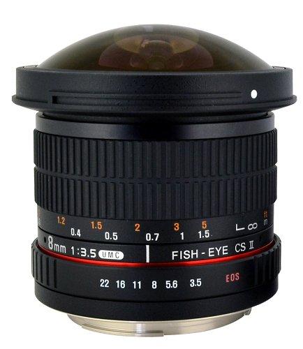 Rokinon HD8M-FX HD 8mm F3.5 Fisheye Lens for Fujifilm X-Mount Cameras, $129.16+tax