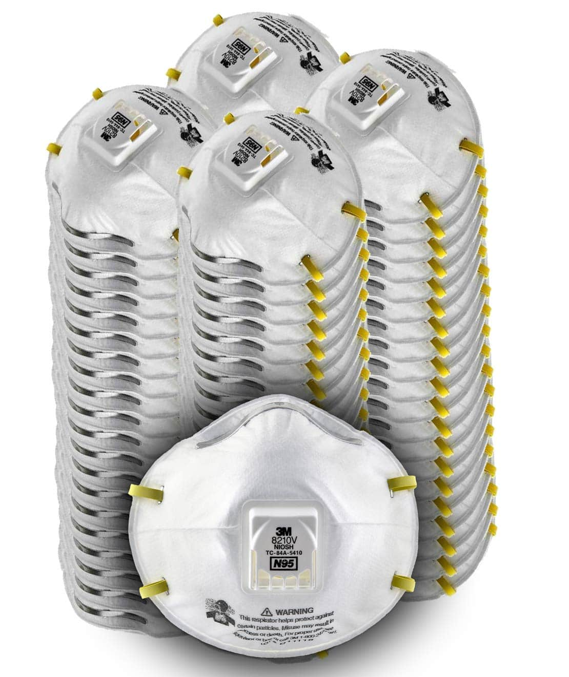 3M Particulate N95 Respirator 8210V with Cool Flow Valve, 80/Pack $95.55