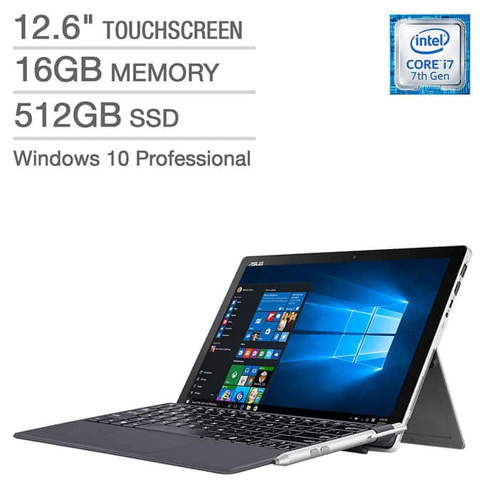 ASUS Transformer Pro (T304UA) 2-in-1, i7-7500U, 512GB SSD, 16GB RAM, 1440p Touchscreen $900