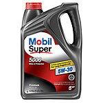 Mobil Super Conventional 5 Qt bottle $8.88 or Mobil Super High Mileage $11.47 after $4 checkout 51 rebate