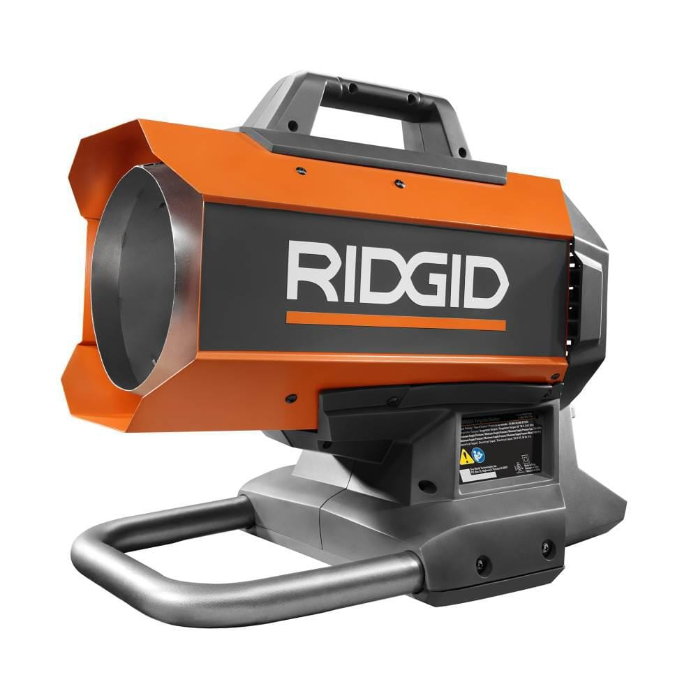 RIDGID 18-Volt 60K BTU Hybrid Forced Air Propane Portable Heater $64.5