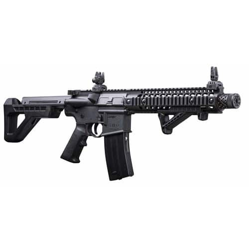 DPMS Full Auto SBR CO2-Powered BB Air Rifle with Dual Action Capability, Black DSBR $107.66 FS