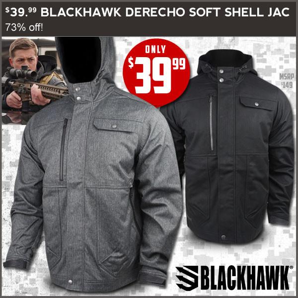 $39.99 Blackhawk Derecho Soft Shell Jacket- fieldsupply.com