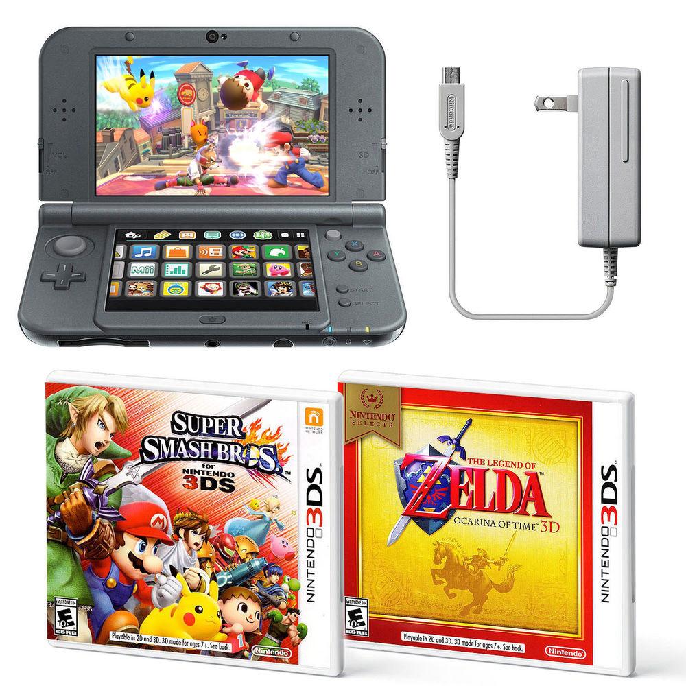 New Nintendo 3DS XL Handheld System Super Smash Bros and Zelda Ocarina Bundle $199 + Free Shipping