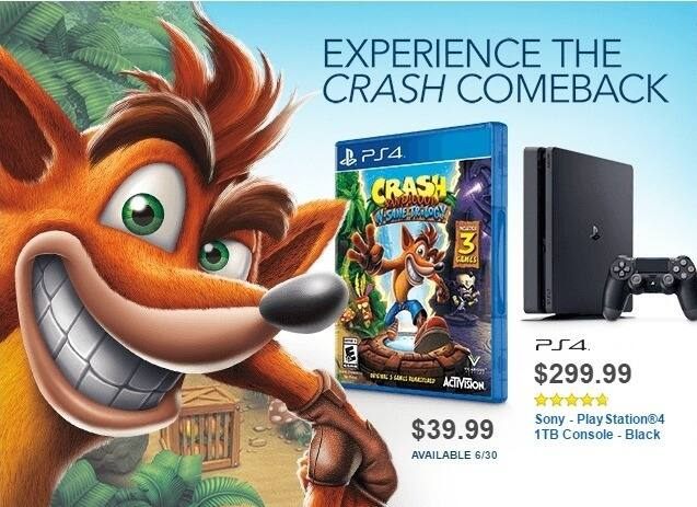 Best Buy Weekly Ad: Crash Bandicoot N. Sane Trilogy - PlayStation 4 for $39.99