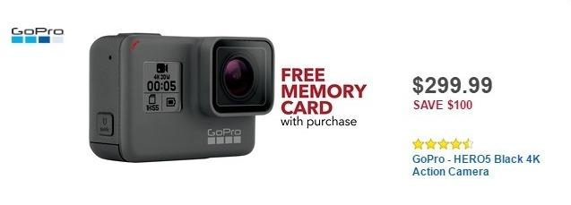 Best Buy Weekly Ad: GoPro HERO5 Black for $299.99
