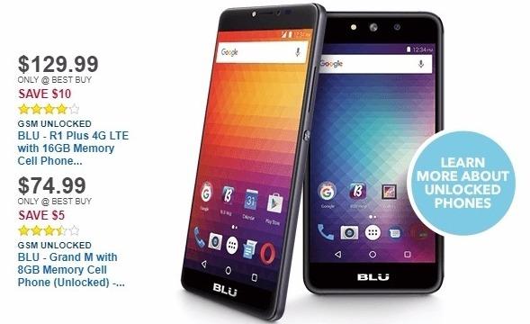 Best Buy Weekly Ad: Unlocked BLU R1 Plus for $129.99