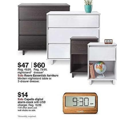 Target Weekly Ad: Room Essentials modern nightstand for $47.00