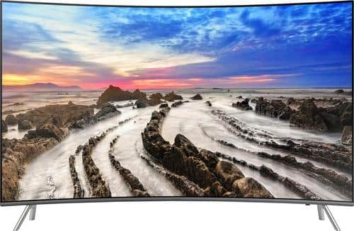 "Best Buy Weekly Ad: Samsung - 55"" Class Curved LED 4K Ultra HD Smart TV with High Dynamic Range for $1,199.99"