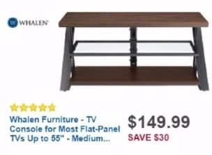 """Best Buy Weekly Ad: Whalen TV Console for Most Flat-Panel TVs Up to 55"""" for $149.99"""