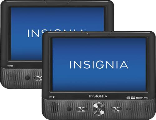 "Best Buy Weekly Ad: Insignia 9"" Dual-Screen Dual-Disk Portable DVD Players for $149.99"