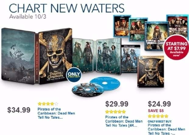 Best Buy Weekly Ad: Pirates of the Caribbean: Dead Men Tell No Tales for $34.99