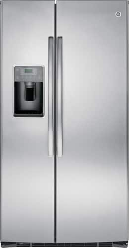 Best Buy Weekly Ad: GE - 25.4 cu. ft. Side-by-Side Refrigerator with Thru-the-Door Ice and Water for $1,199.99