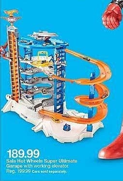 Target Weekly Ad: Hot Wheels Super Ultimate Garage Playset for $189.99