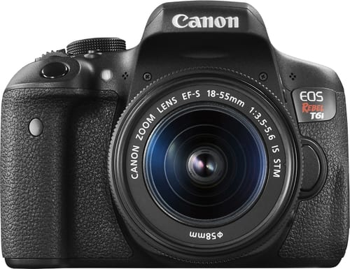 Best Buy Weekly Ad: Canon EOS Rebel T6i with 18-55mm IS STM Lens for $749.99
