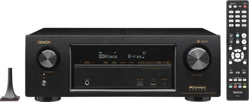 Best Buy Weekly Ad: Denon X1400H AVR 7.2-Ch. with HEOS 4K Ultra HD A/V Home Theater Receiver for $499.98