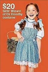 Target Weekly Ad: The Wizard of Oz® Dorothy Girls' Deluxe Sequin Costume for $20.00