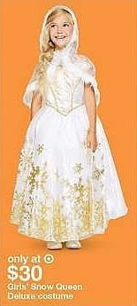 Target Weekly Ad: Girls' Snow Queen Deluxe Costume - Hyde and Eek! Boutique™ for $30.00