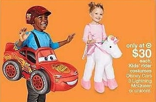 Target Weekly Ad: Toddler Disney® Cars 3 Lightning McQueen 3D Step In Deluxe Costume for $30.00