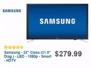 "Best Buy Weekly Ad: Samsung 32"" Class LED 1080p Smart HDTV for $279.99"