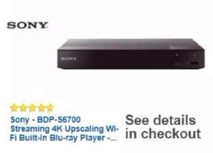 Best Buy Weekly Ad: Sony 4K Upscaling 3D Wi-Fi Built In Blu-ray Disc Player for $99.99