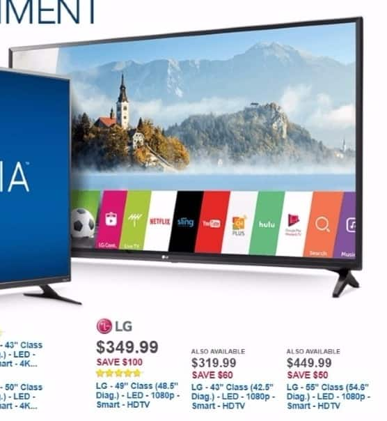 """Best Buy Weekly Ad: LG 55"""" Class LED 1080p Smart HDTV for $449.99"""
