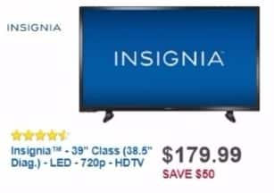"Best Buy Weekly Ad: Insignia 39"" Class LED 720p HDTV for $179.99"